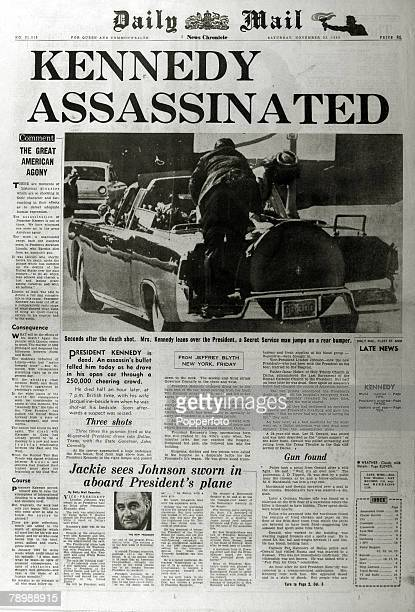 Publishing Historic Newspaper Headlines 23rd November 1963 The tragic headline from the Daily Mail recording the assasination of President Kennedy in...