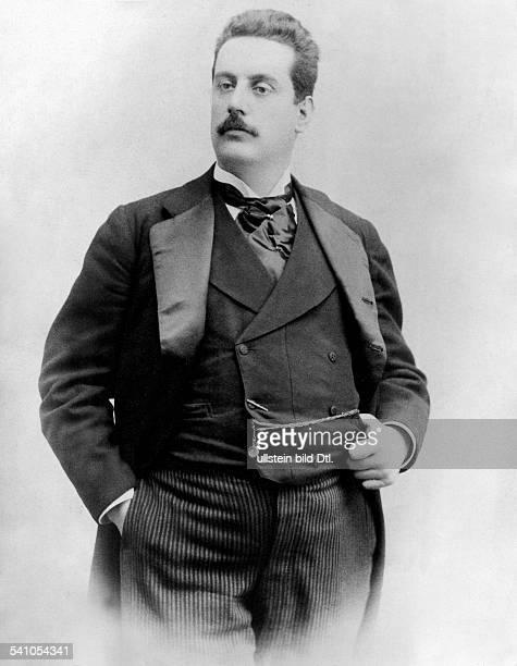 Puccini, Giacomo *22.12.1858-+Composer, Italyhalf-length figure