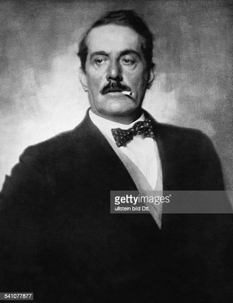 Puccini, Giacomo *22.12.1858-+Komponist, Italien- Portrait mit Zigarette- undatiert