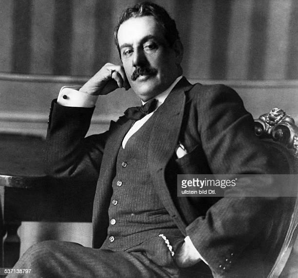 Puccini, Giacomo , Komponist, Italien, - Halbportrait, - 1912