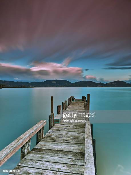 puccini lake - tranquil scene stock pictures, royalty-free photos & images