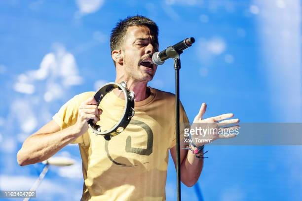 Pucho of Vetusta Morla performs in concert during the Festival Internacional de Benicassim on July 21, 2019 in Benicassim, Spain.