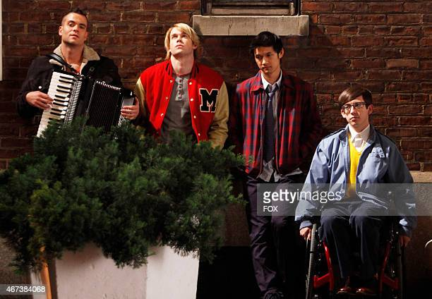 """Puck Sam , Mike and Artie perform in the """"New York"""" season finale episode of GLEE airing Tuesday, May 24 on FOX."""