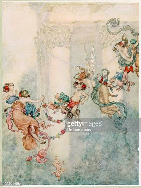 She never had so sweet a changeling from A Midsummer Nights Dream by William Shakespeare pub 1914 1914 Artist Wiliam Heath Robinson