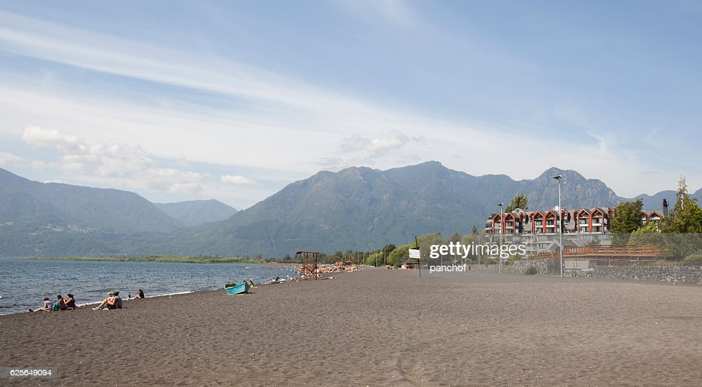 Pucon beach : Stock Photo