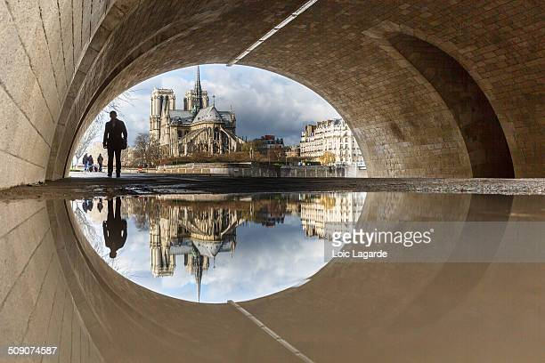 Puddle Mirror on Notre Dame