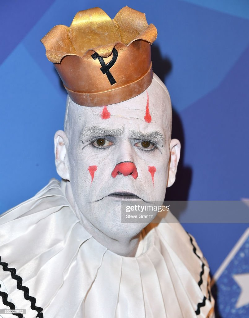 Puddles Pity Party arrives at the Premiere Of NBC's 'America's Got Talent' Season 12 at Dolby Theatre on August 15, 2017 in Hollywood, California.