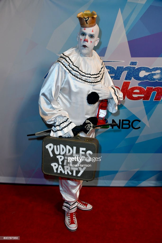 Puddles Pity Party attends the Premiere Of NBC's 'America's Got Talent' Season 12 at Dolby Theatre on August 15, 2017 in Hollywood, California.