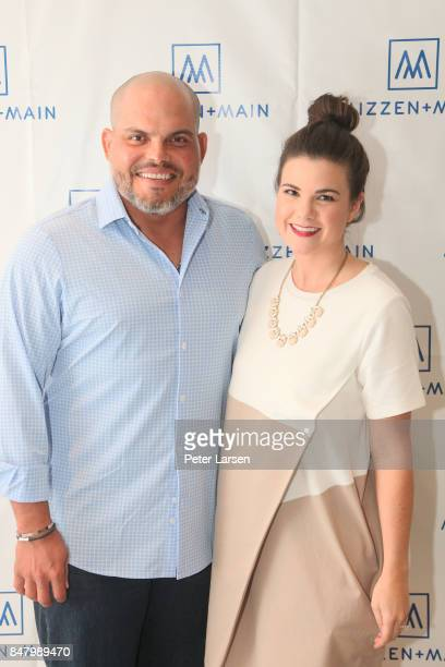 Pudge Rodriguez and guest attend Mizzen Main and Pudge Rodriguez on September 15 2017 in Fort Worth Texas