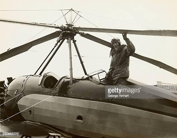 Puebla PA Ready to fly a Pitcairn Autogiro Amelia Earhart circa 1930