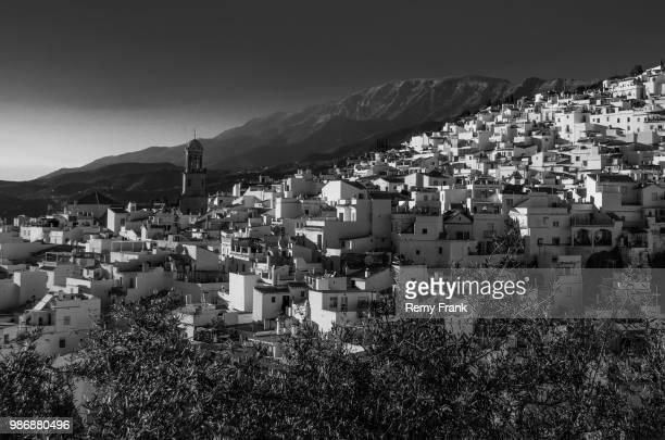 pueblo blanco en blanco y negro - blanco y negro bildbanksfoton och bilder