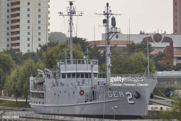 USS Pueblo Spy Ship moored in Pyongyang