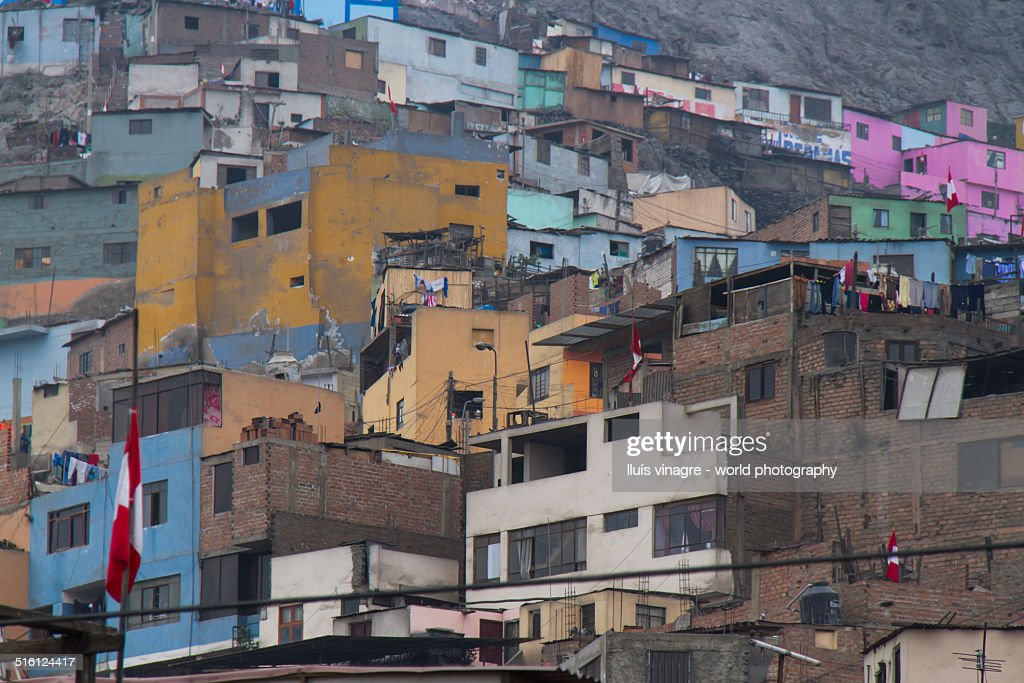 Pueblos in Lima : Stock Photo