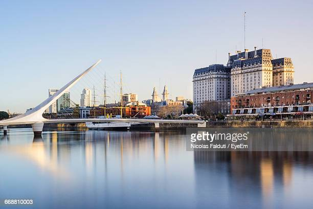puente de la mujer over guadalquivir river against sky - buenos aires stock pictures, royalty-free photos & images