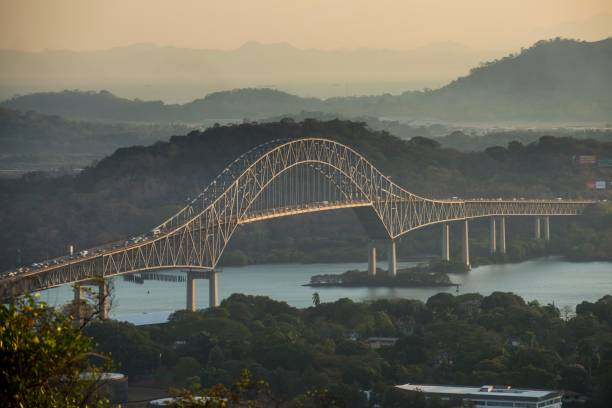 Puente de las Americas, Bridge of the Americas, arched bridge over the Panama Canal, Panama City, Panama