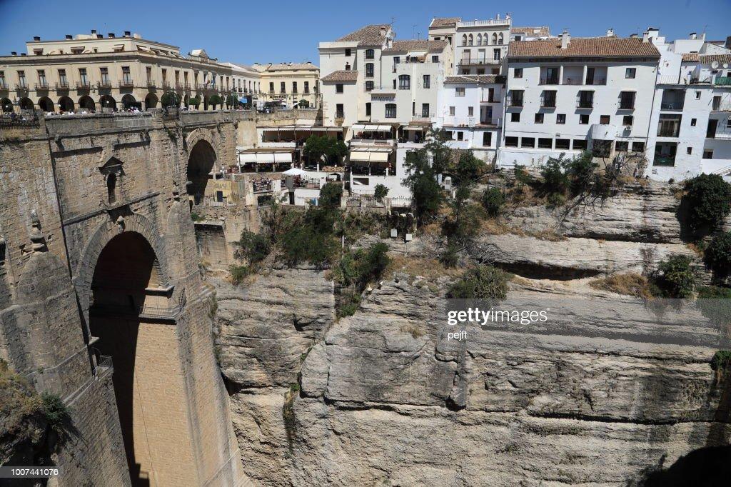 Puente Nuevo Bridge in Ronda Andalusia, Spain : Stock Photo