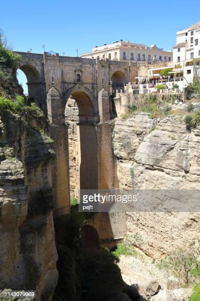 puente nuevo bridge in ronda andalusia, spain - pejft stock pictures, royalty-free photos & images
