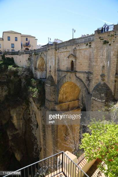 puente nuevo bridge in ronda andalusia, spain - pejft stock pictures, royalty-free photos & images