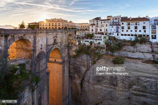 puente nuevo bridge in ronda - spain stock pictures, royalty-free photos & images