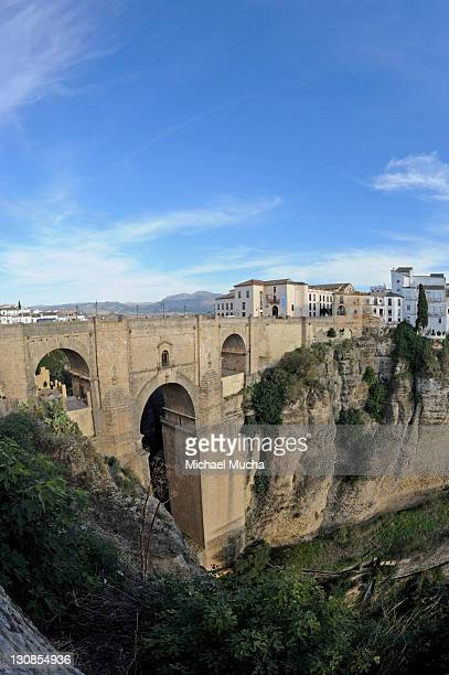 puente nuevo, new bridge, ronda, andalusia, spain, europe - michael mucha stock-fotos und bilder