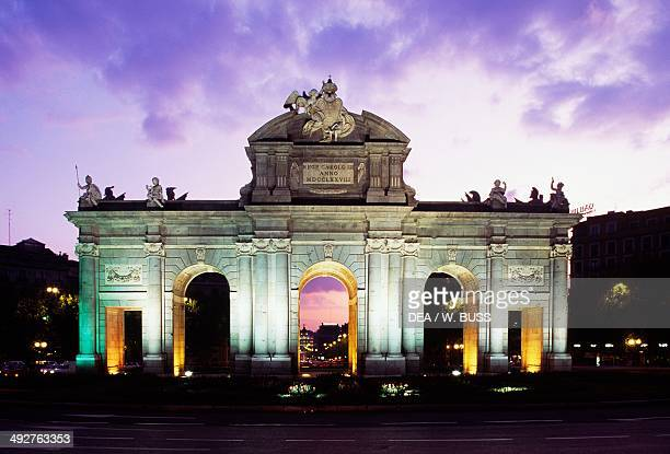Puerta de Alcala , 1774-1778, architect Francesco Sabatini , Madrid, Spain.