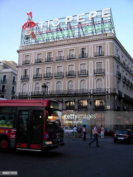 Puerta del Sol Madrid Luminous advertising of the wine Tio Pepe