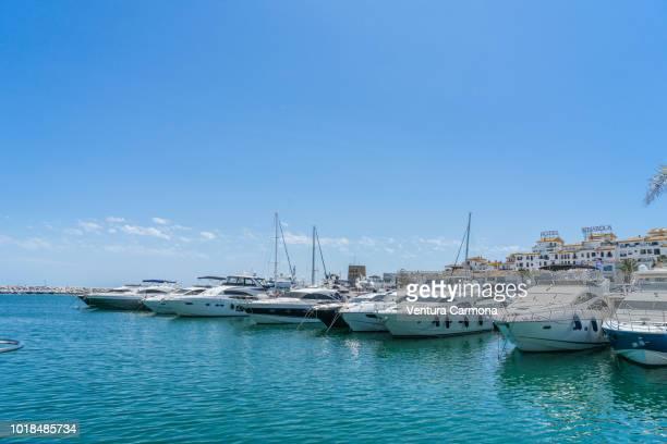 puerto banús - marbella, spain - marbella stock pictures, royalty-free photos & images