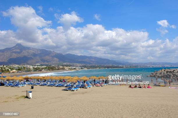 'Puerto Banus beach, Marbella, Malaga province, Spain'