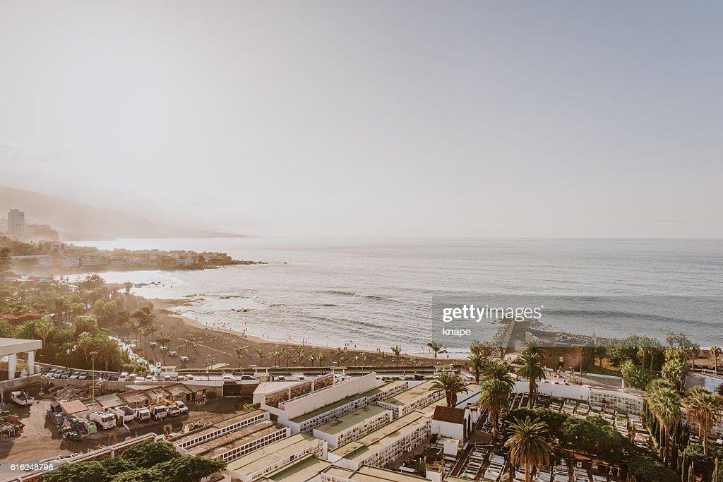 Puerto de la Cruz in Tenerife Spain : Foto de stock