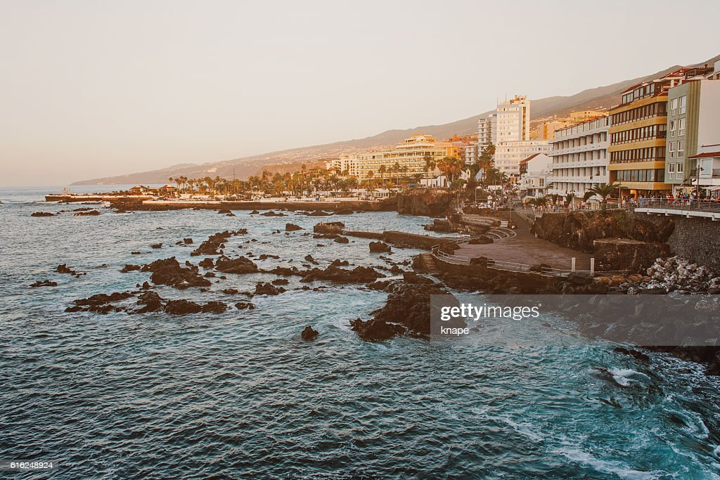 Puerto de la Cruz in Tenerife Spain : Foto de stock