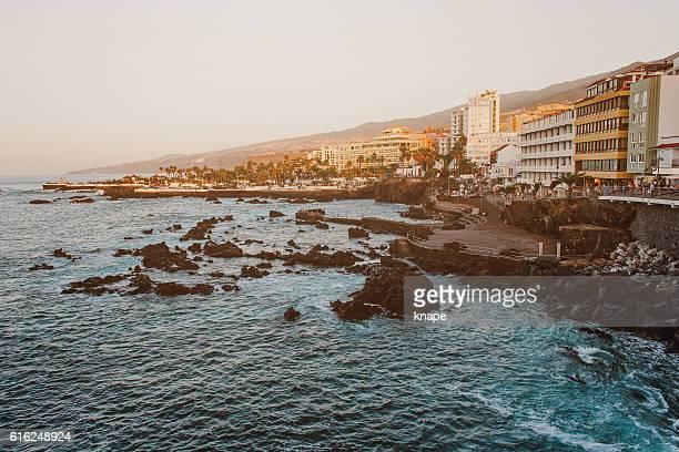 Puerto de la Cruz in Tenerife Spain