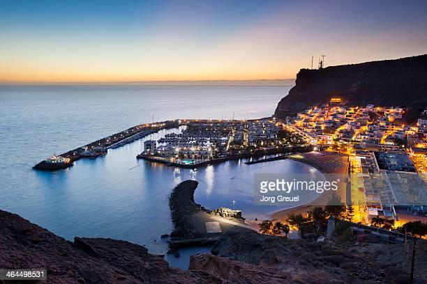 Puerto de Mogan at dusk