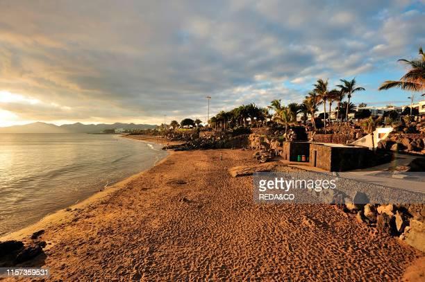 Puerto del Carmen beach Lanzarote Canary Islands Spain Europe