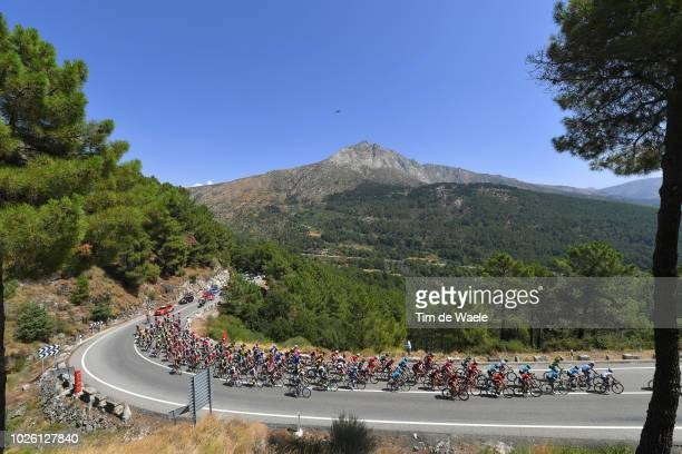 Puerto del Pico / Landscape / Peloton / Mountains / during the 73rd Tour of Spain 2018, Stage 9 a 200,8km stage from Talavera de la Reina to Alto de...