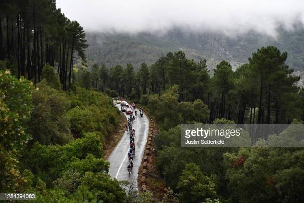 Puerto del Portillo de las Batuecas / Peloton / Landscape / Mountains / Fog / during the 75th Tour of Spain 2020, Stage 17 a 178,2km stage from...