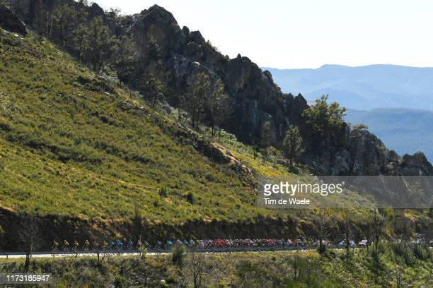 Puerto del Pozo de las Mujeres Muertas / Peloton / Landscape / Mountains / during the 74th Tour of Spain 2019 Stage 15 a 1544km stage from Tineo to...