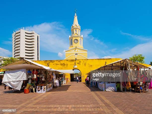 Puerto del Reloj histórico una amplia en Cartagena, Colombia