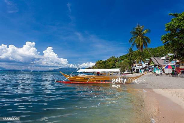 puerto galera dive boat, philippines - aceh stock pictures, royalty-free photos & images