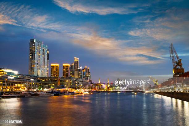 puerto madero in buenos aires - puente de la mujer stock pictures, royalty-free photos & images