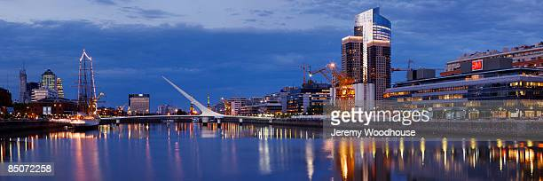 puerto madero skyline - jeremy woodhouse stock photos and pictures