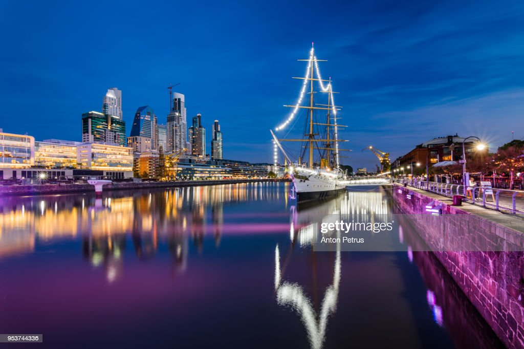 Puerto Madero. Waterfront district view in Buenos Aires, Argentina. : Stock-Foto