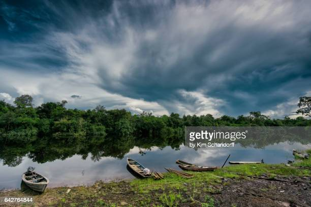 puerto maldonado village view - iquitos stock pictures, royalty-free photos & images