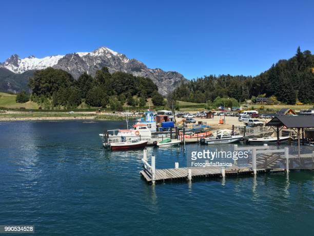 puerto pañuelo, bariloche, argentina - pañuelo stock photos and pictures