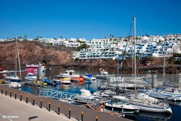 Puerto Playa Del Carmen Town Lanzarote Canary Spain