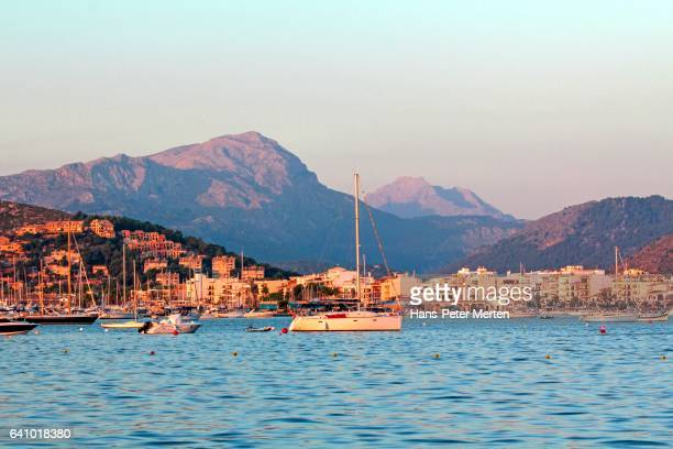 Puerto Pollenca and Tramuntana Mountains, Majorca, Spain