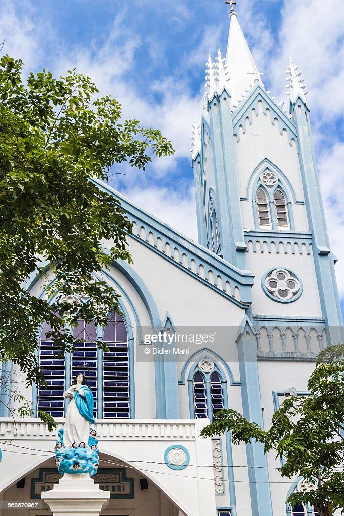 Puerto Princesa church in Philippines : Stock Photo