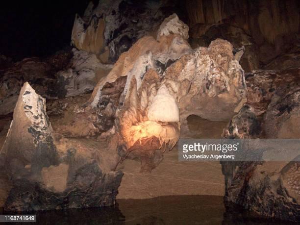 puerto princesa subterranean river cave, palawan, philippines - argenberg stock-fotos und bilder