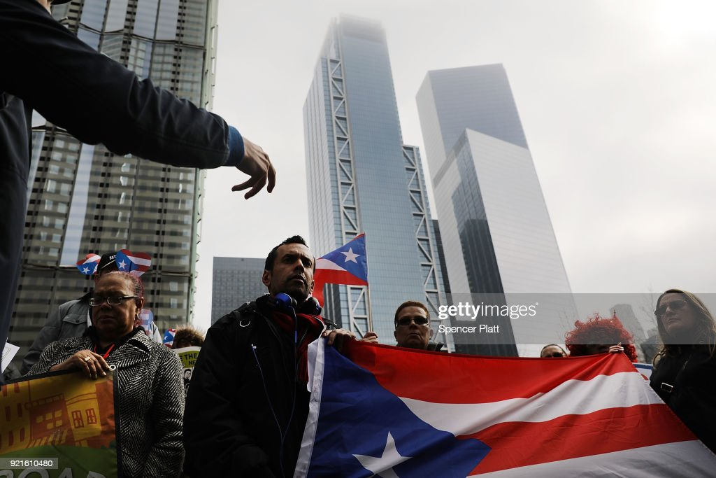 Activists Rally At FEMA Office In NYC For More Aid For Puerto Rico