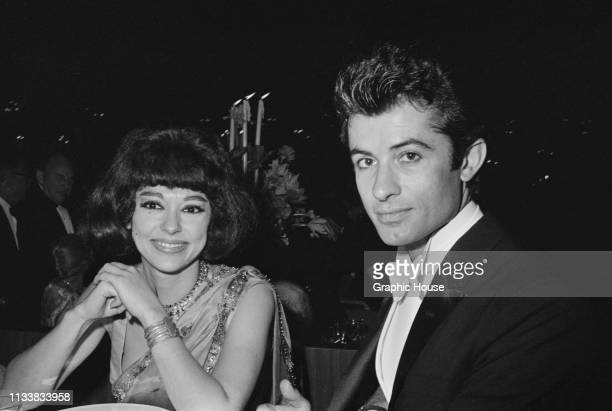 Puerto Rican actress dancer and singer Rita Moreno and American dancer singer and actor George Chakiris at the 35th Academy Awards held at Santa...