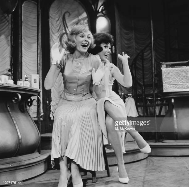 Puerto Rican actress dancer and singer Rita Moreno and English actress dancer and singer Anne Rogers starring in the musical 'The Shop Around the...